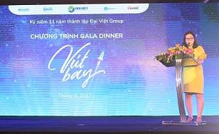 Tổ chức teambuilding: Chương trình Gala mừng sinh nhật 11 năm: Vút bay - Đại Việt Group